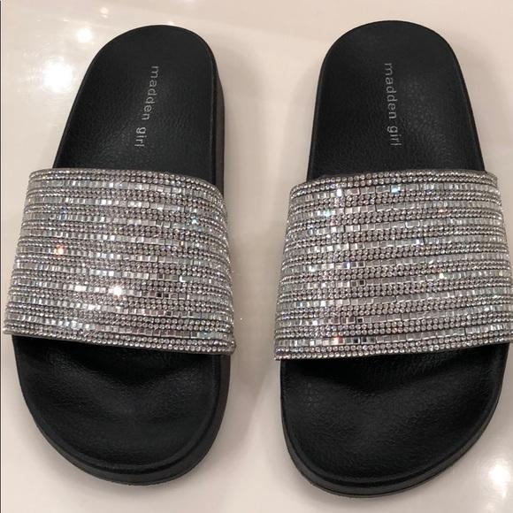 464aa30fa33 Madden Girl Shoes - Madden Girl Rhinestone Slides